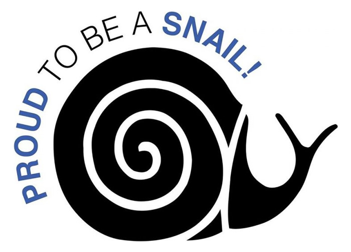 Proud to be a snail.